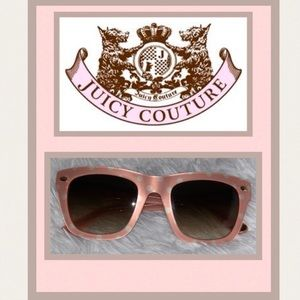 Juicy Couture Pink & White Polka Dot Sunglasses